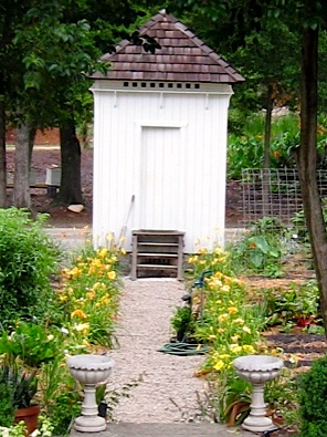 Here is an old shot of the main path through the garden with its varying shades of yellow day lilies.
