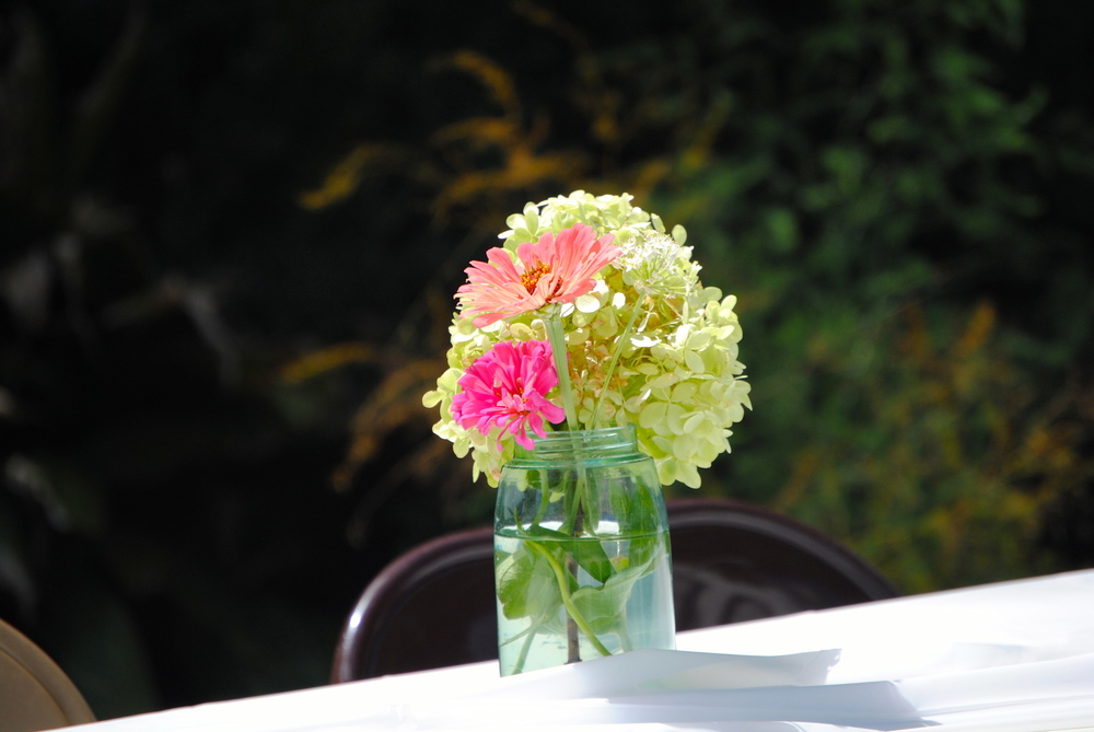 Flowers from Elm Street Gardens decorated all the tables.