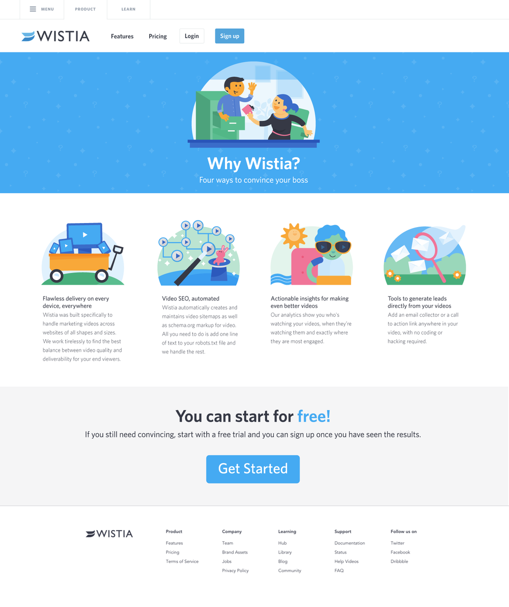 Wistia Layout and Illustrations