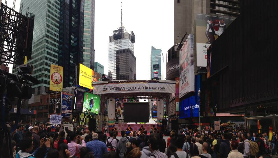 2013 Korean Food Fair in New York Times Square, NYC