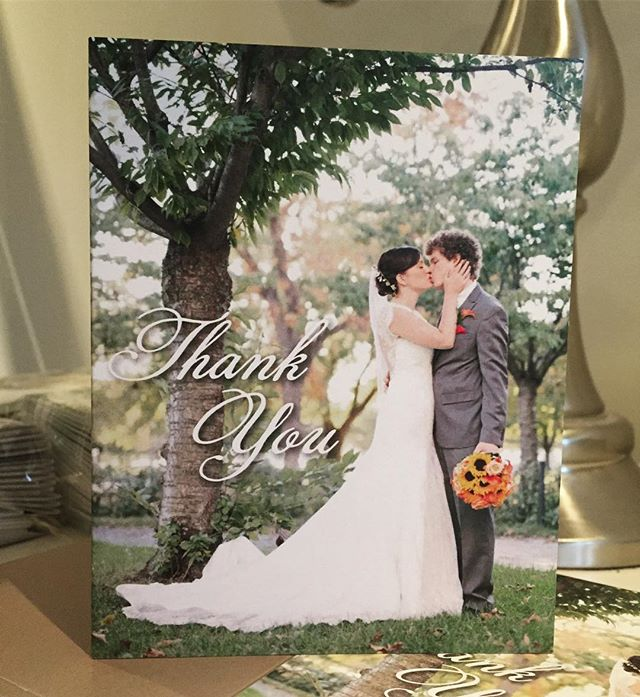 #pretty Thank you cards for Kerri and Cory! Printed on 130lb card stock these are 🙌!! #thankyoucards #weddinginvitations #durhamregionweddings #durhamregioninvitations #weddingstationery #eventplanner