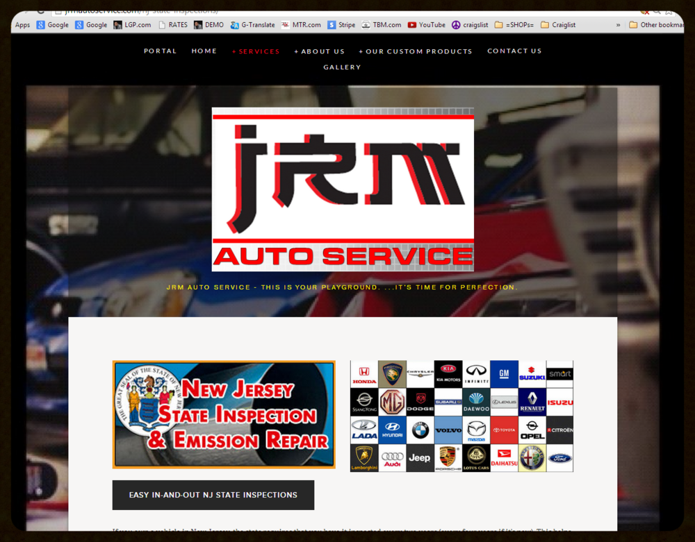 STANDARD WEBSITE   Auto Services & Repair   Website   Web - Film - Video - Photo - Social Media     www.JRMAutoService.com