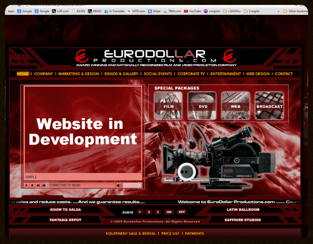 PROFESSIONAL WEBSITE   Social Events Videography & Cinema   Website   Web - Film - Video - Photo - Social Media     www.EuroDollarProductions.com