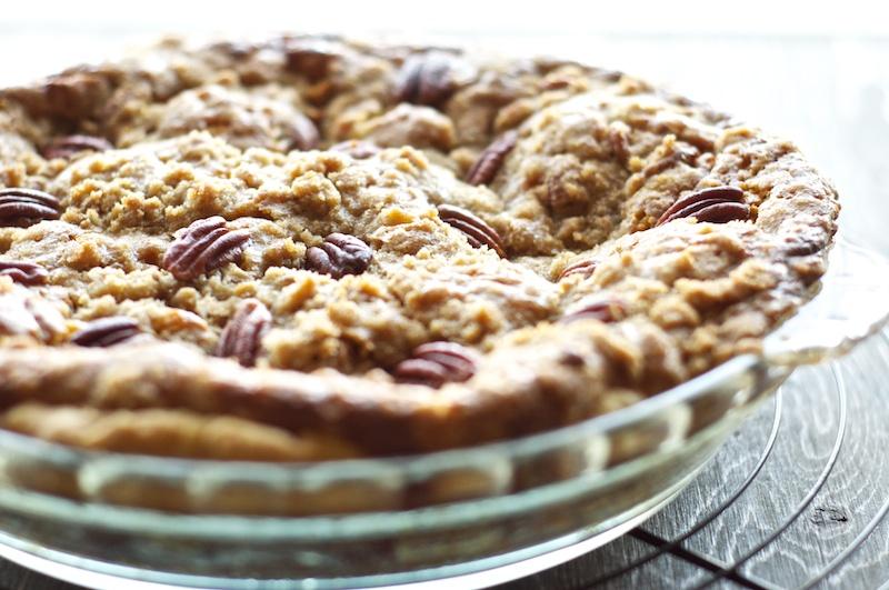 Bourbon Pumpkin Pie with Pecan Streusel — Pixels + Crumbs