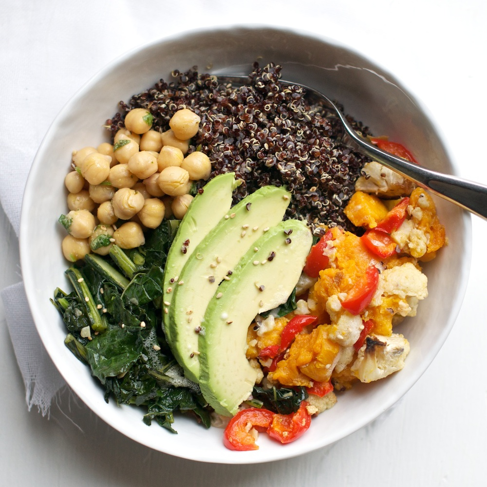 Black Quinoa + Roasted Vegetable Bowl — Pixels + Crumbs