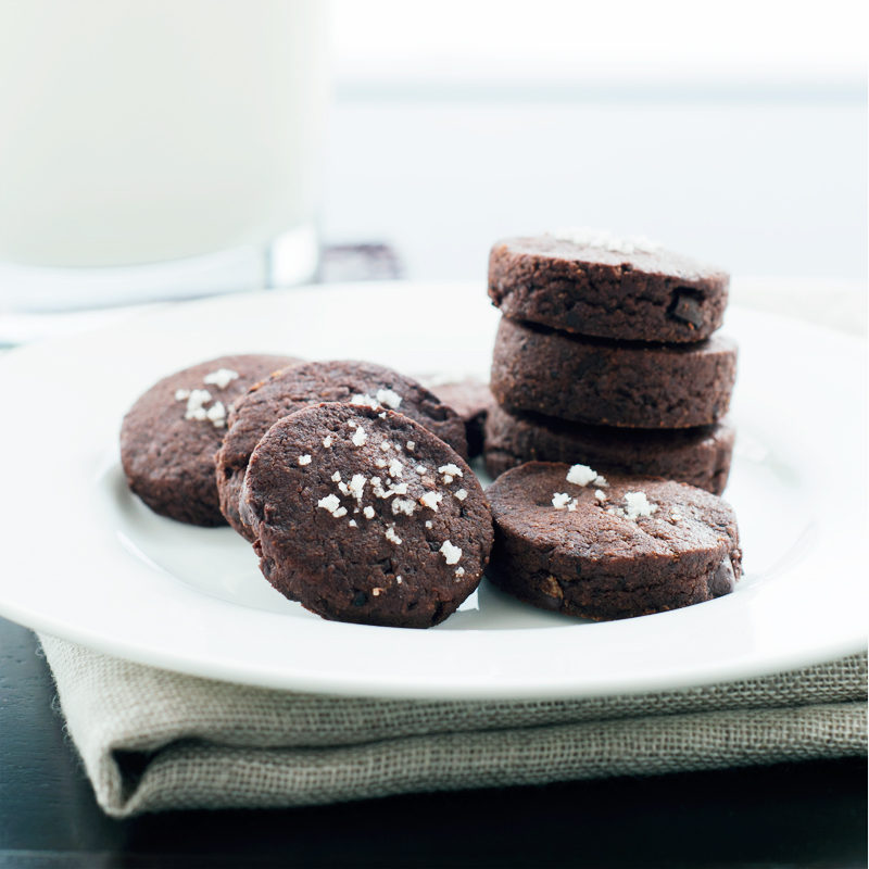 Chocolate Espresso Shortbread Cookies