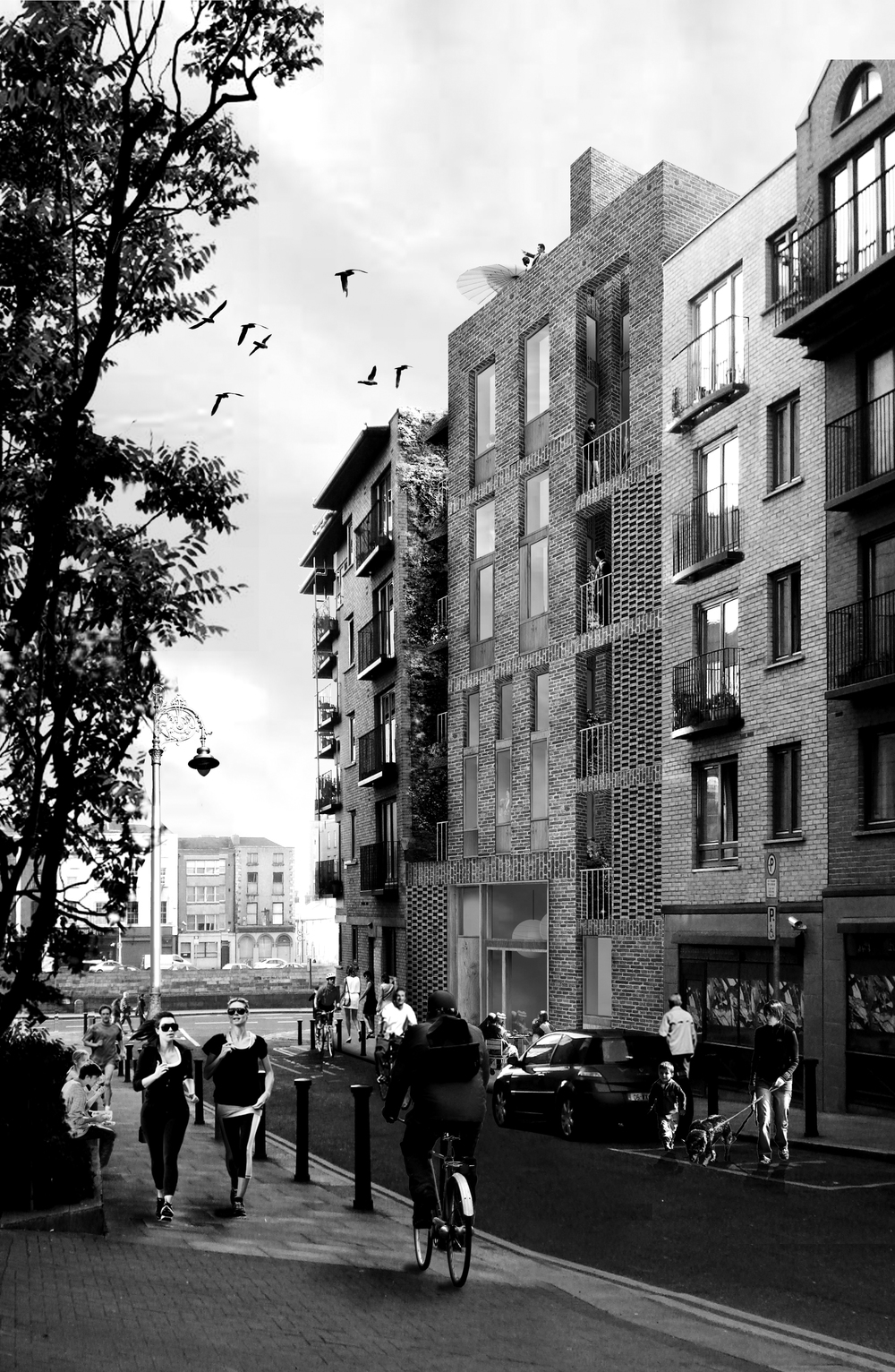 In 2012 the opportunity to test Dublin House became a reality when a Dublin City Council owned site on Fishamble Street became earmarked for development.  The two teams were once again called upon to reimagine the co-op development in this location. Over several months the design, model and brochure came together to be presented in August 2012.  Dublin House 2.0: Fishamble Street was launched on the 21st July 2014 with an open call for interested groups to make submissions to Dublin City Council.