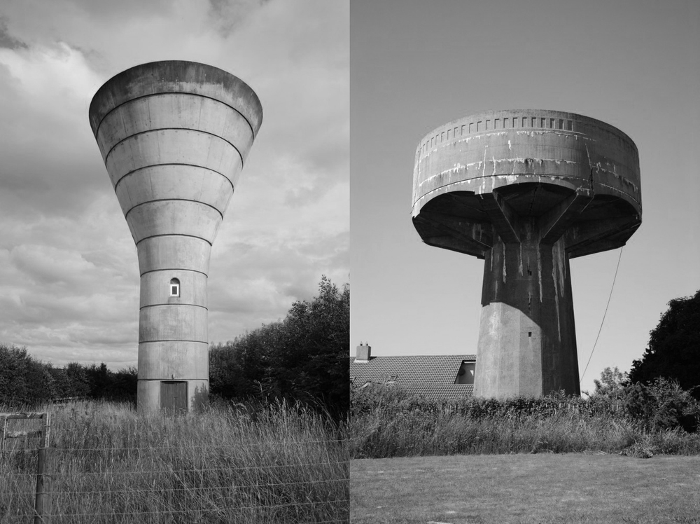 Above: Water Towers of Ireland is a research project undertaken by Jamie Young, ongoing since June 2010