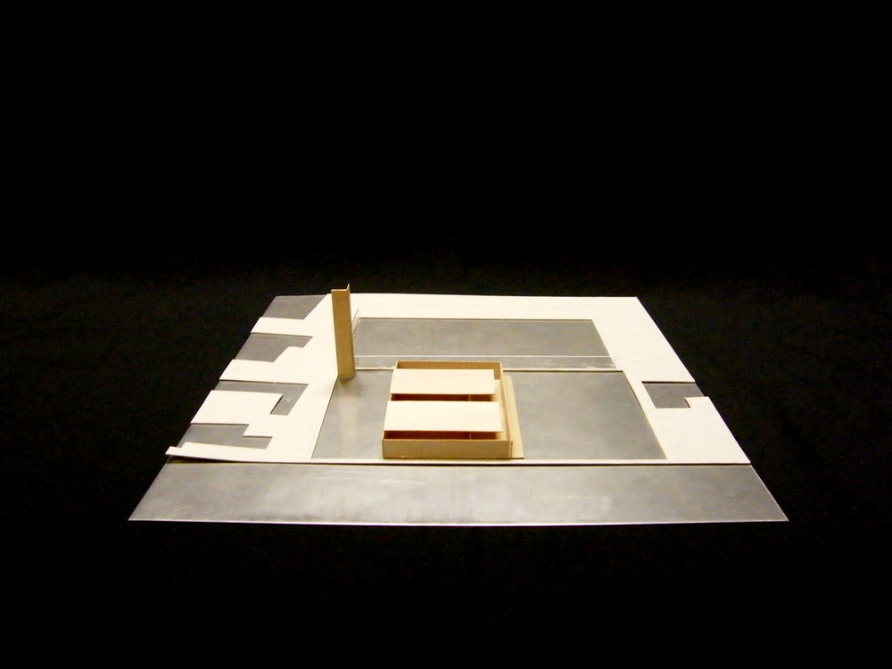 Site Model: Stainless steel, plywood. 1:500