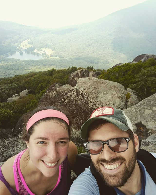 Hiked the Peaks Of Otter Sharp Top Trail. Trail life is an arduous but kind life. People take care of one another on the trail. We saw a rattle snake. We saw a black bear. We saw a beautiful vista. And now I'm tired.