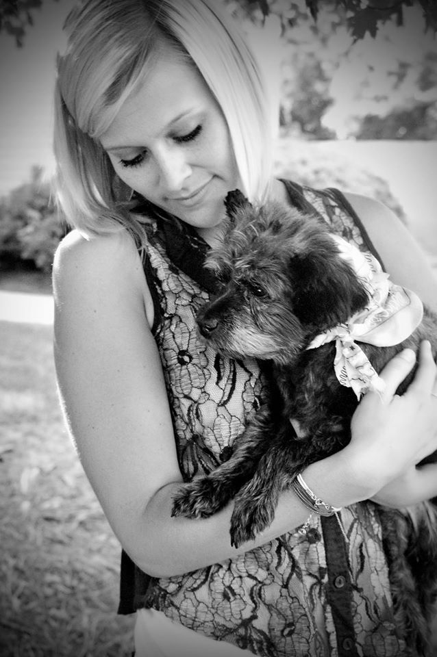 Nicole Elliott and Chester, whom she adopted from the Ark Animal Rescue in Columbus, Georgia.
