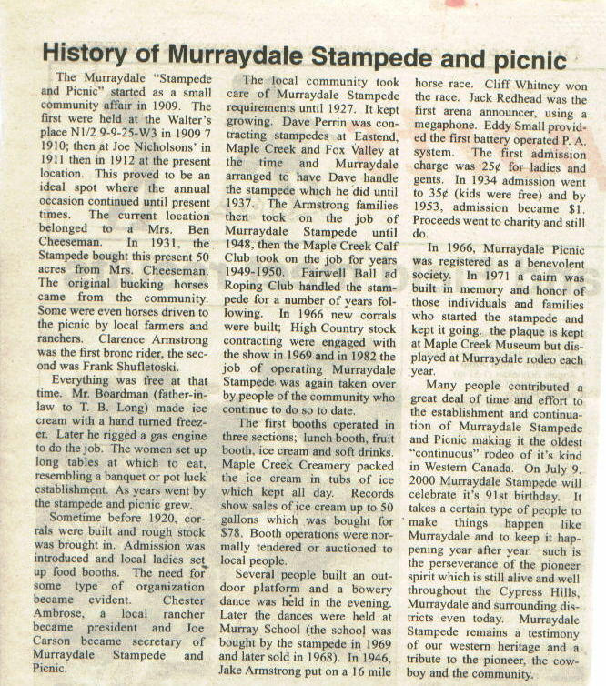 Maple Creek News -2000