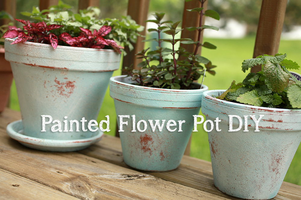 My Distressed Painted Flower Pot Diy April Bern