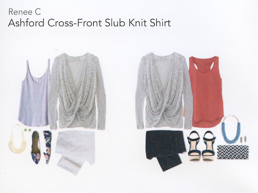 Stitch Fix Review 1- Ashford Cross-Front Slub Knit Shirt