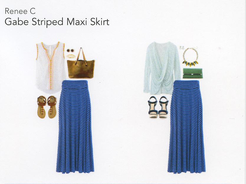 Stitch Fix Review 1- Gabe Striped Maxi Skirt