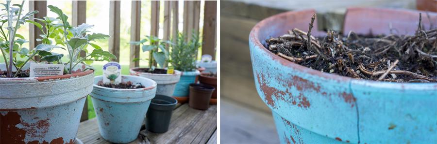Shabby Chic Garden Planter pots
