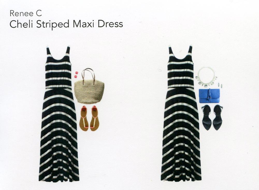 Stitch Fix- Cheli Striped Maxi Dress