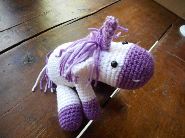 Unicorn lovie from Homespun Accessories