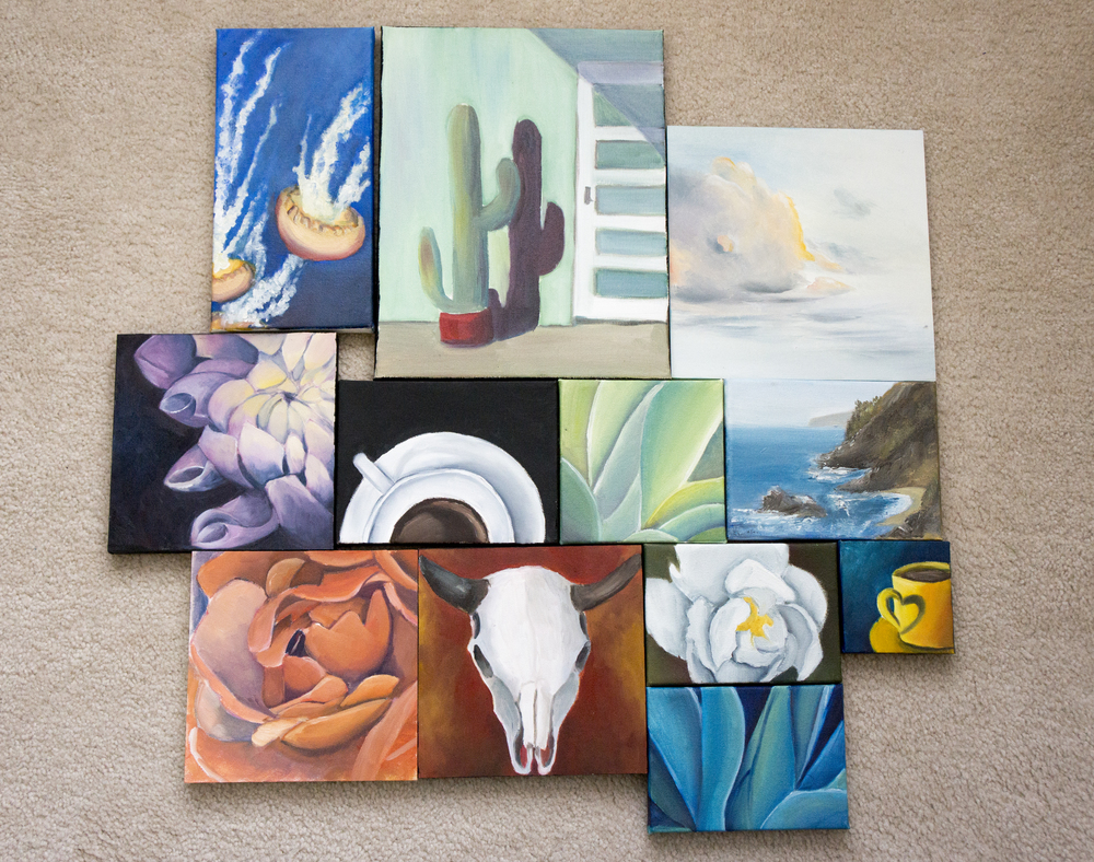 Collection of Oil Paintings done in 2014