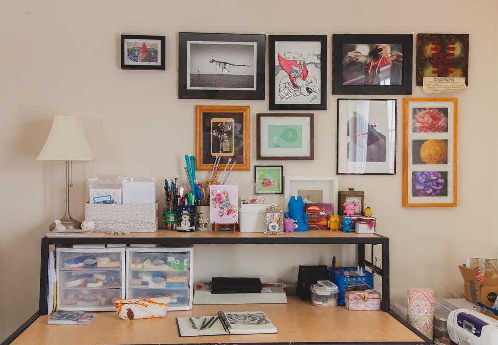 behind the scenes- my studio space
