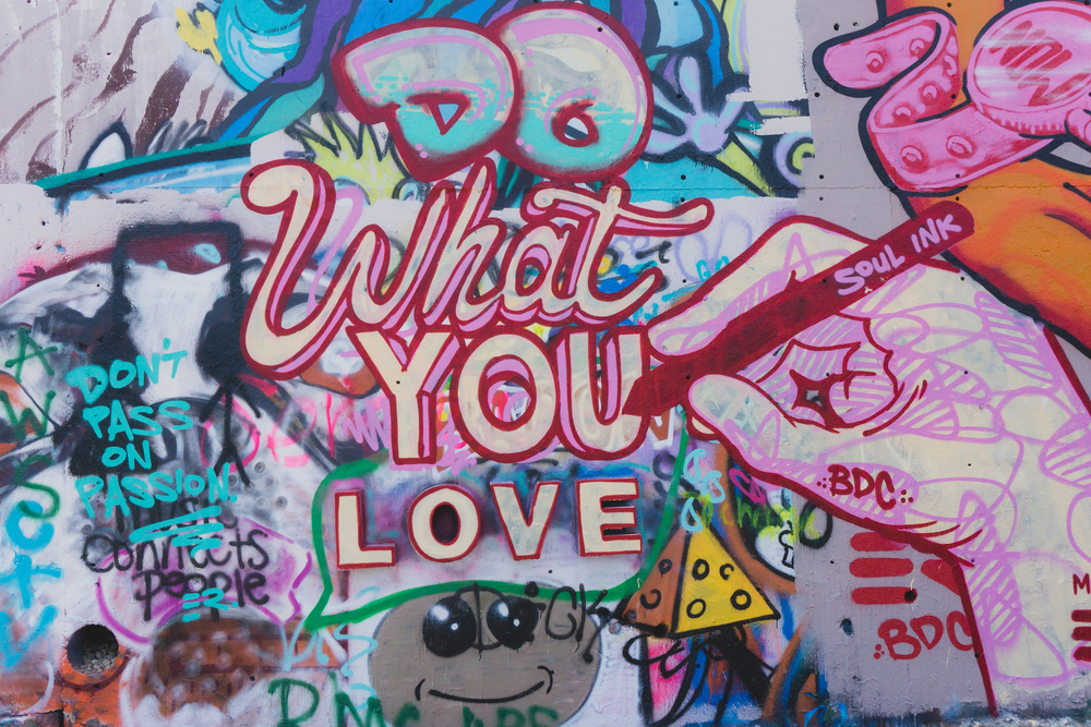 Do What You Love Graffiti Baylor Street Austin Texas