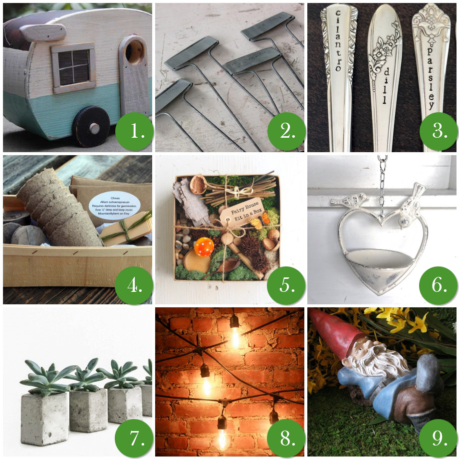 My Favorite Finds Friday- Handmade Garden & Patio Accents