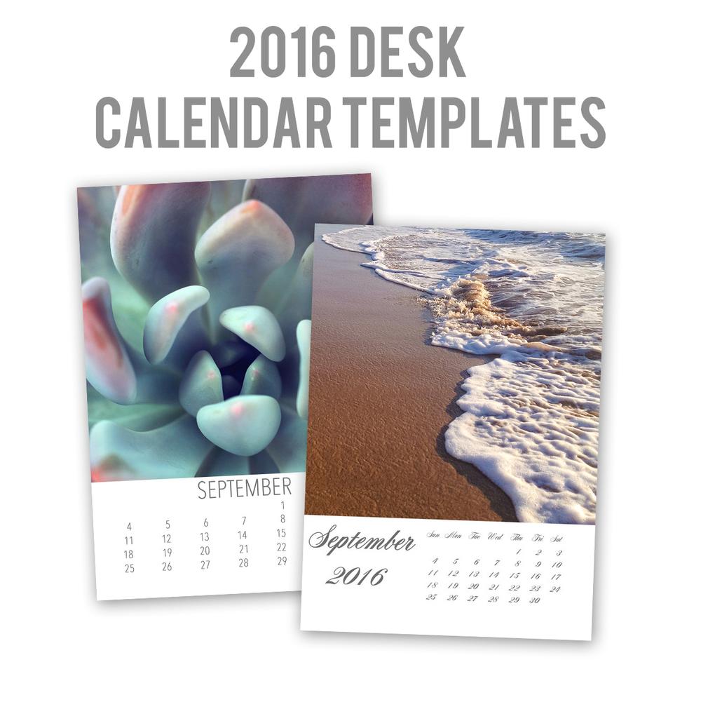 2016 5x7 Desk Calendar Template
