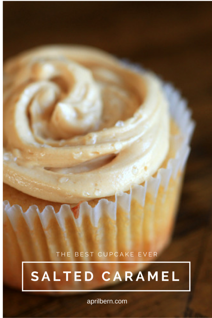 The BEST Salted Caramel Cupcake Recipe