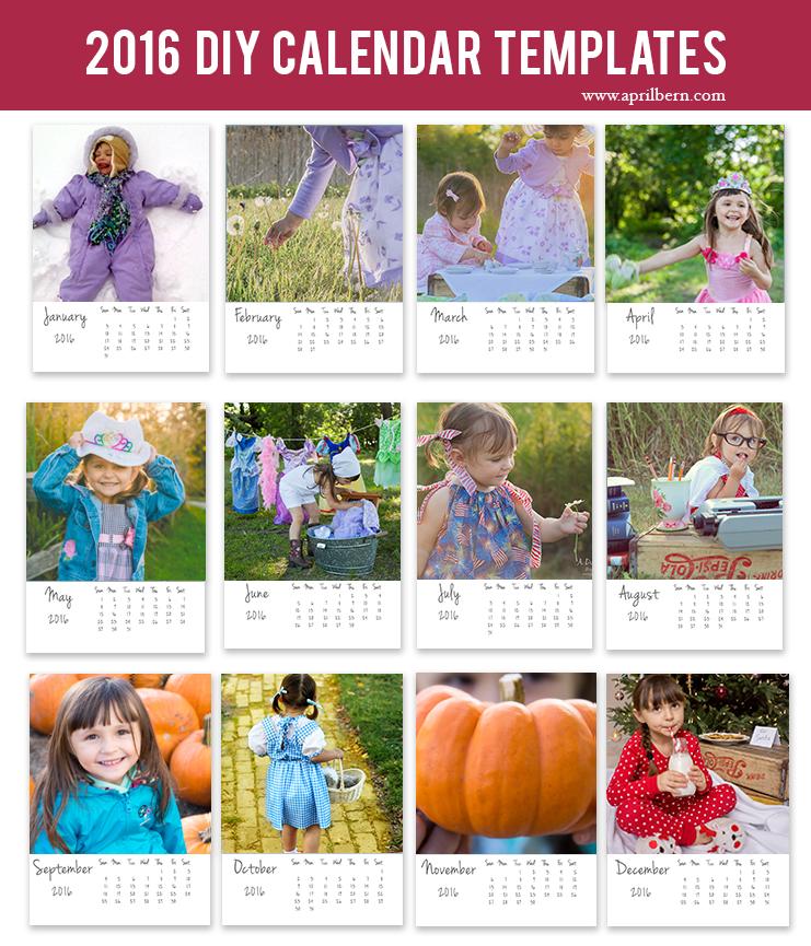 2016 DIY Calendar Template