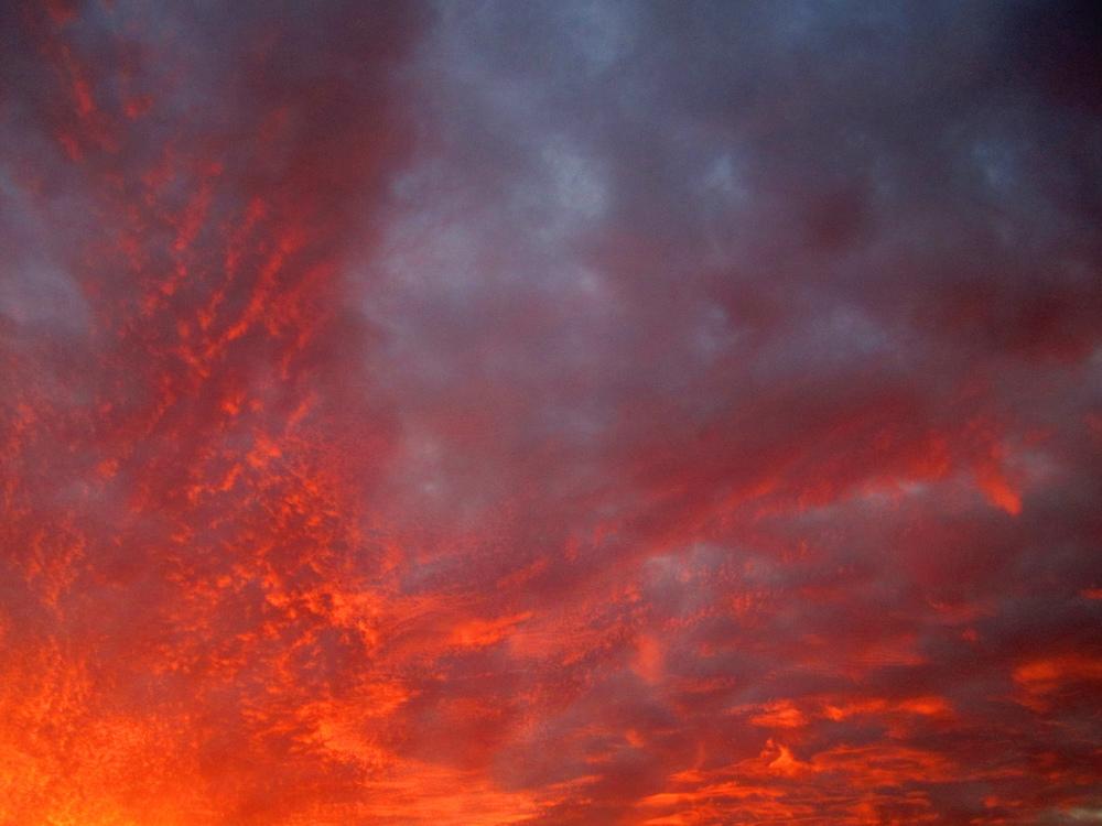 Blaze Fire Red Sky