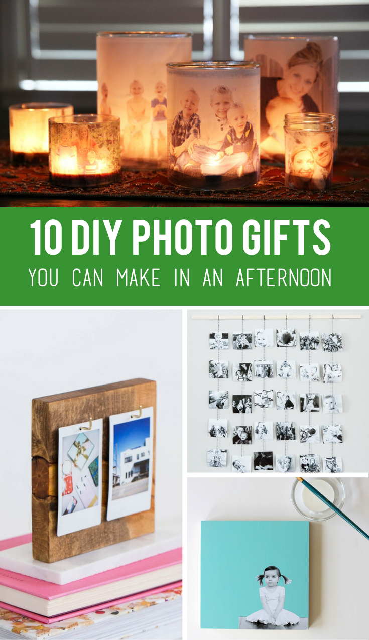 10 Super Easy DIY Photo Gifts