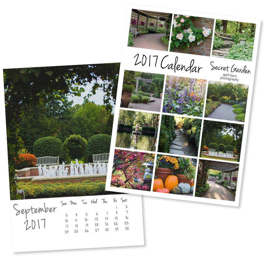 2017 Desk Calendar - Secret Garden Floral Calendar