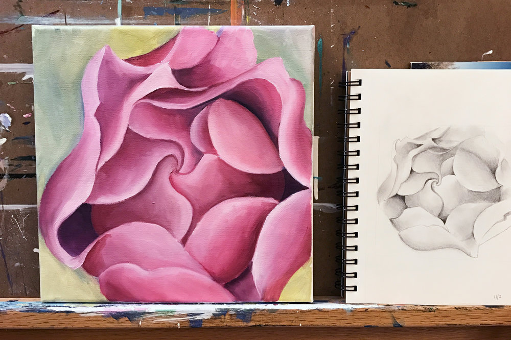 WIP Wednesday - Rose Painting part 6
