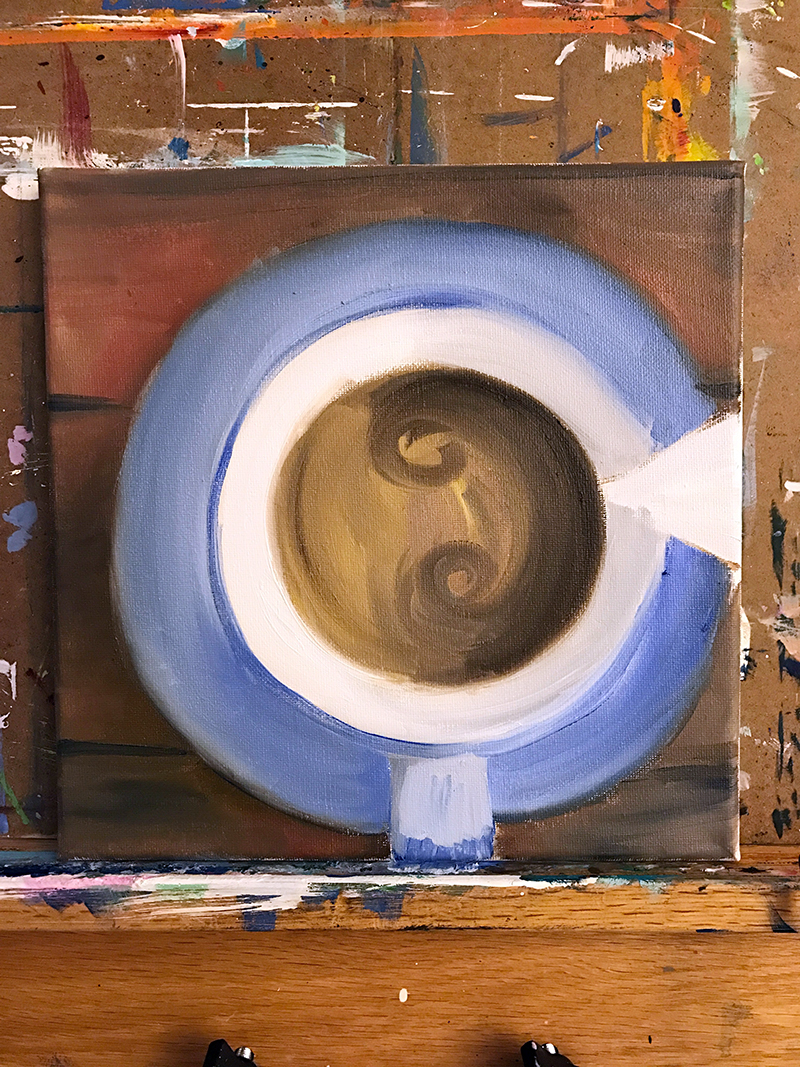 WIP Coffee Painting - Step Two