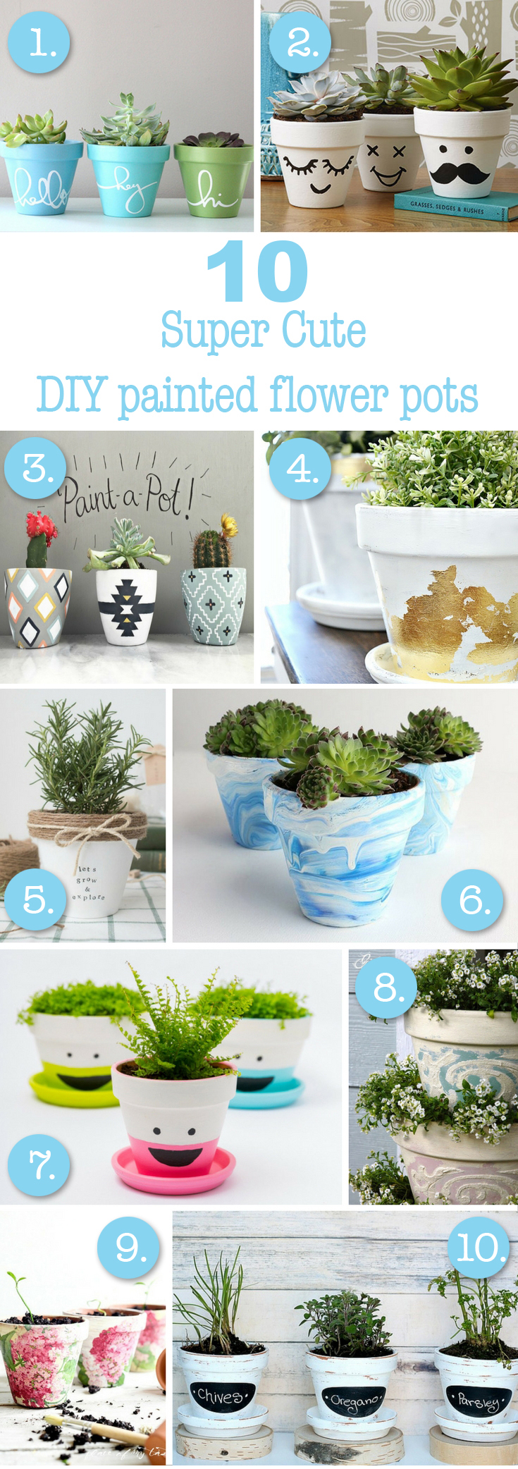 10 super cute DIY painted flower pot ideas