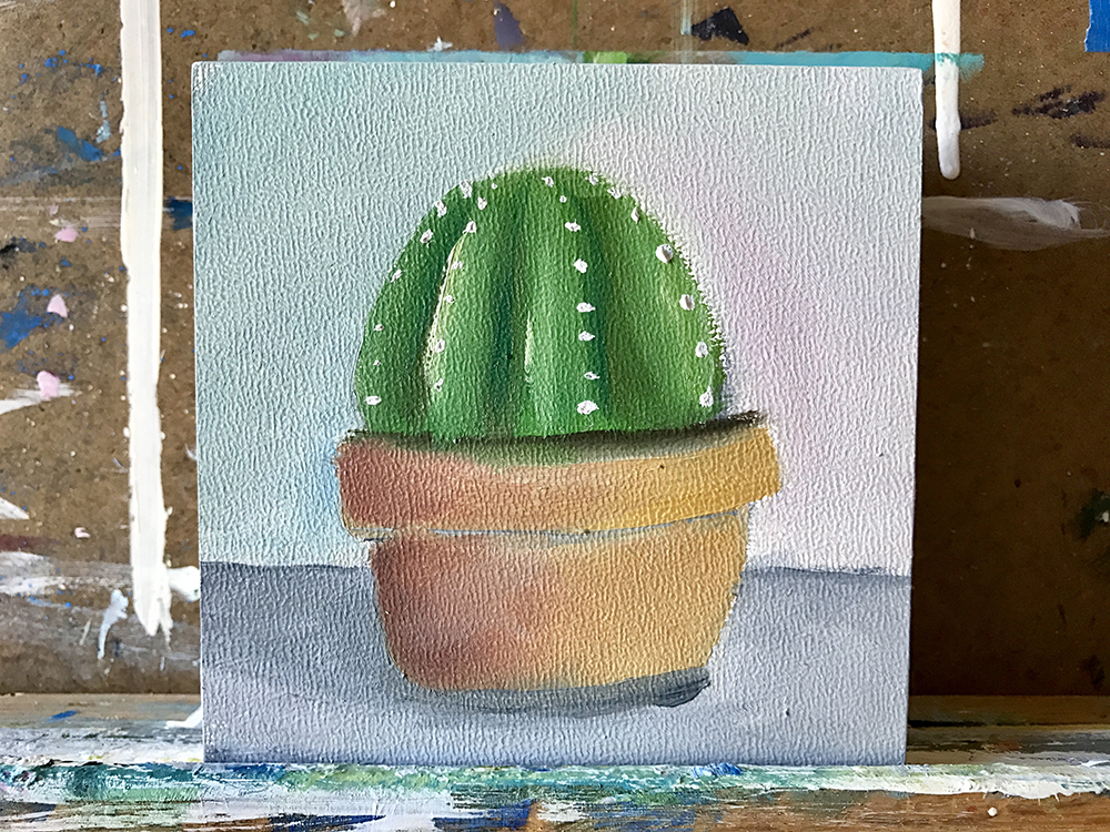 Tiny succulent painting by april bern