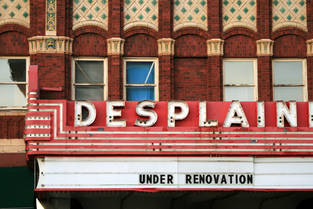 under renovations- des plaines theater