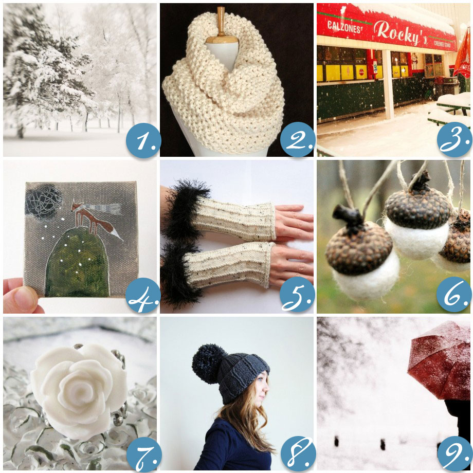 Wednesday Inspiration Blizzard - cold weather finds on etsy