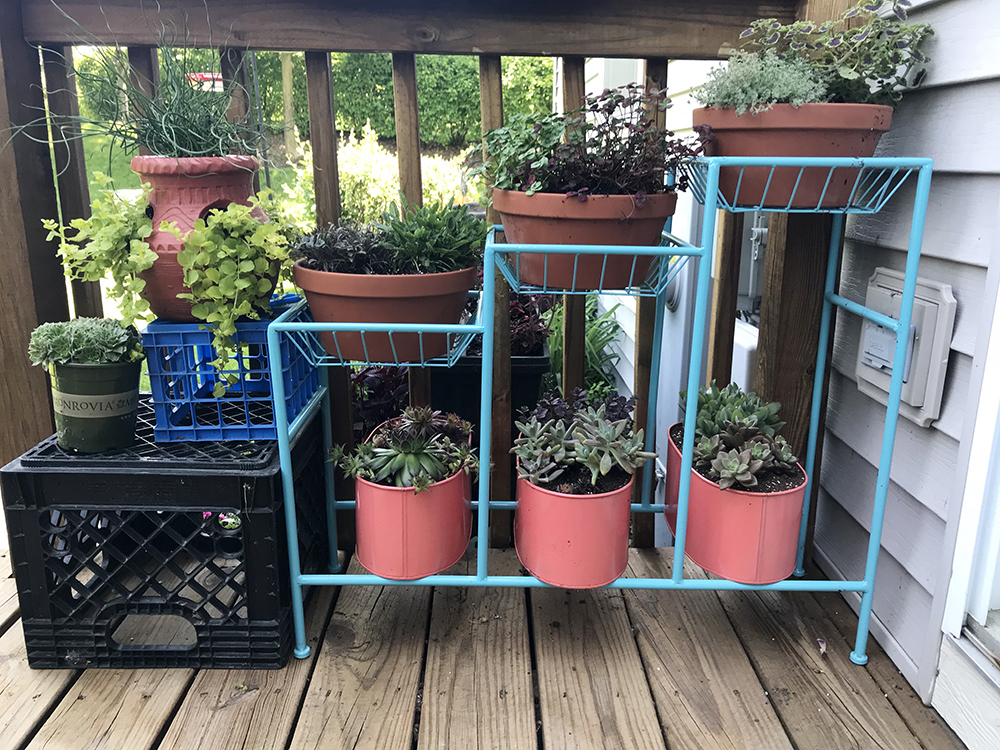 Teal 3 Tier Plant Stand