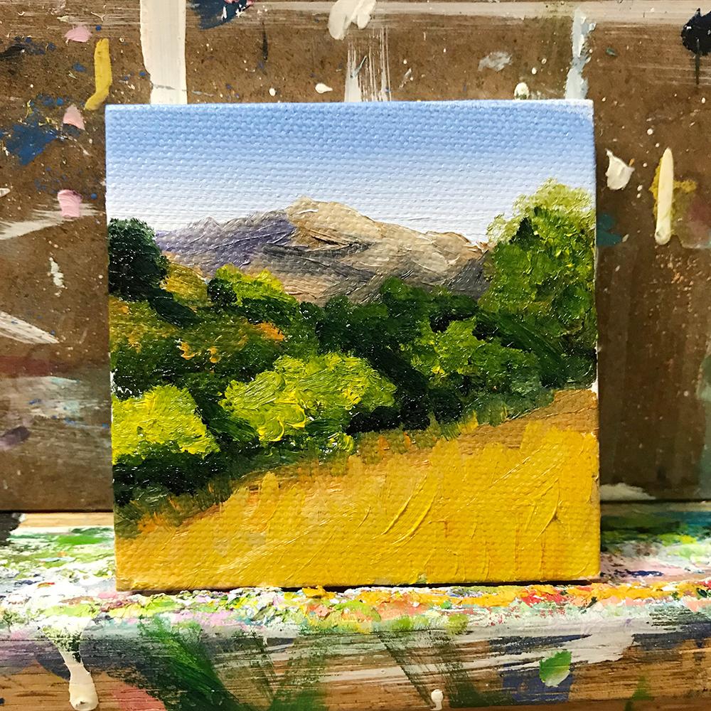 "59/100. 3""x3"" oil on canvas"