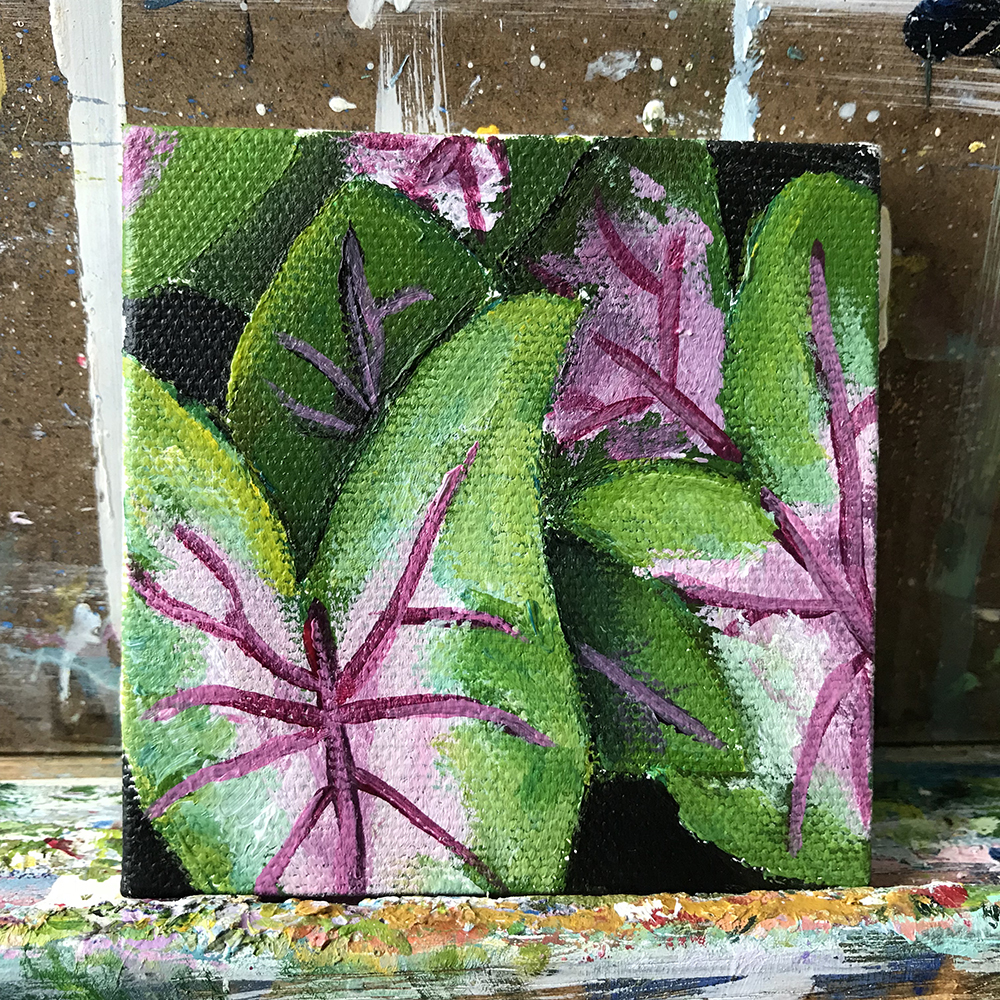 "70/100. 3""x3"" acrylic on canvas."