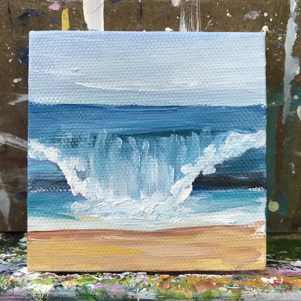 """73/100. 3""""x3"""" acrylic on canvas."""