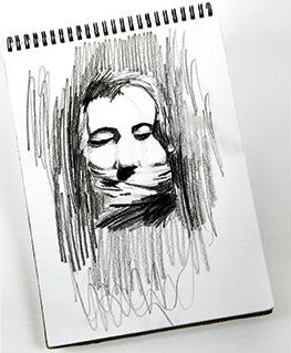 Daniel Segura Bonnett. Hombre con mordaza