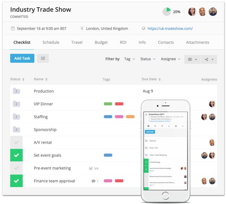 Event Checklist Mobile App