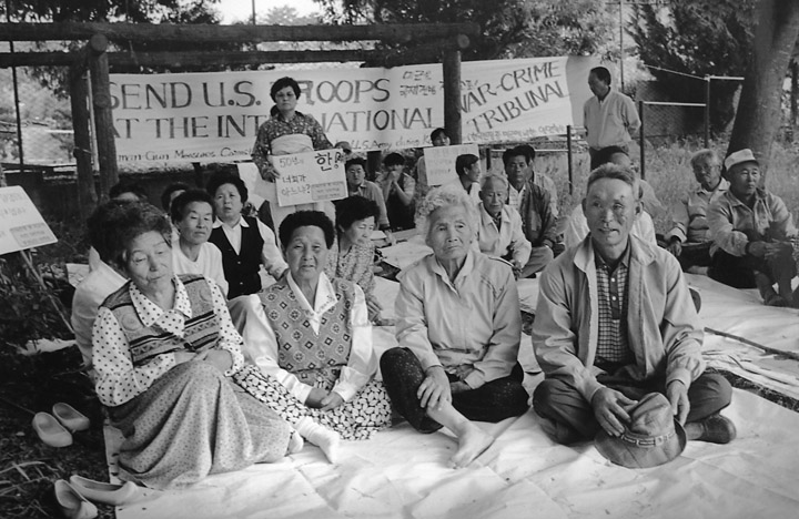 A group photo of some of the elders. Some of them have been fighting U.S. imperialism for over 50 years.