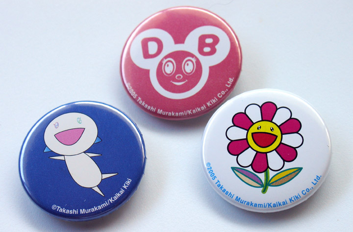 These are from the Murakami show. Thank you Pam for the lovely buttons.