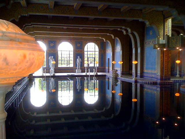 Indoor swimming pool, Hearst Castle.