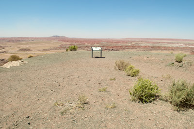 Lonely sign, Petrified Forest National Park.