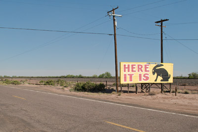 Billboard, Route 66. I think this was in Arizona.