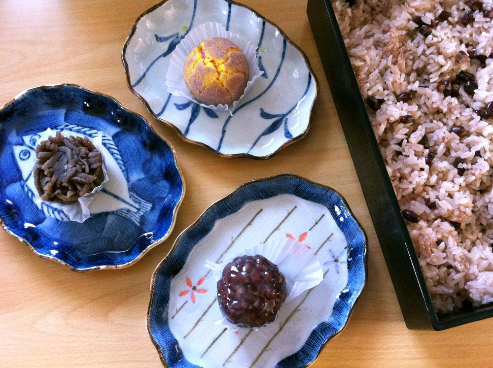 Sekihan & fancy Japanese sweets.